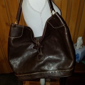 DOONEY BOURKE BROWN LARGE TOGGLE SAC HOBO